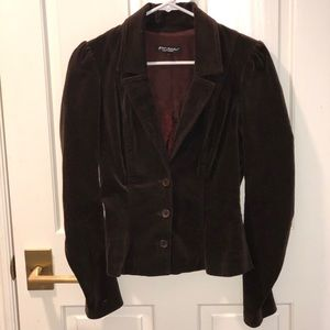 Betsy Johnson chocolate velvet blazer!!
